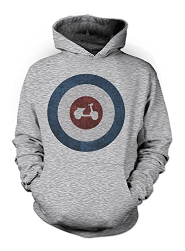 Mod Culture Moped Scooter Rock Punk Herren Hoodie Sweatshirt Grau Medium Mod Zip-hoody