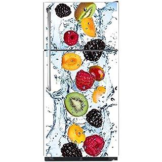 Sticker autocollant frigo Multifruits Eau 70x170cm SAEFR1033 (Fond Transparent)
