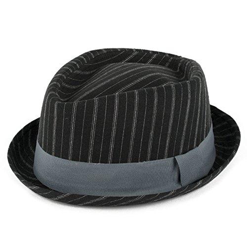 Hat To Socks Chapeau Pork-Pie été rayé en Forme de Diamant
