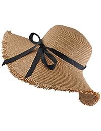 EINSKEY Sombrero Paja Mujer de Verano de ala Ancha Sombrero de Playa Plegable