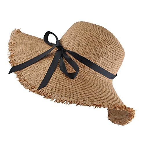 EINSKEY Sombrero Paja Mujer de Verano de ala Ancha Sombrero. 8077987e063