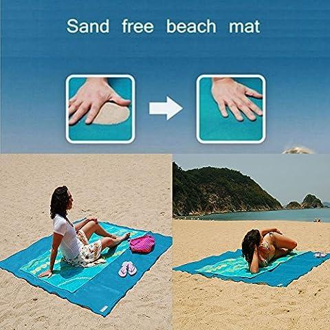Sandfreie Strandmatte, Sand Dirt & Staub Disapper, Strandtuch, Schnell trocken, Picnics Camping Decke, wasserdicht, leicht zu reinigen, Picknickdecke, Strandtuch