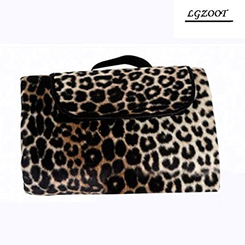 Outdoor Suede Foldable Leopard Picnic Blanket Isomatte Tents Picnic Mats 150 * 200cm