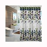 Bishilin Polyester-Stoff Duschvorhang Waschbar Blätter 3D Anti Schimmel Duschvorhang 220x200 cm