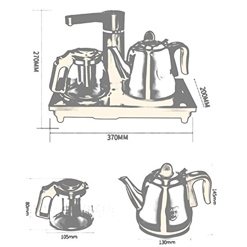 BCQ Electric Kettle High Borosilicate Glass Pot 304 Stainless Steel Pot Gold Brown 1.0L 1350W Electric Kettles,Brown