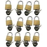 Amtech Lot de 12 cadenas en laiton 20mm avec clés