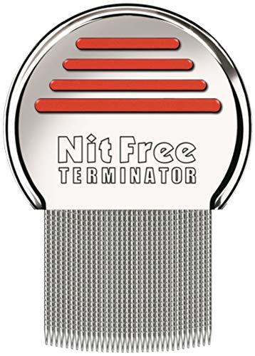Original seit 1998 NitFree Terminator Läusekamm bzw Nissenkamm entfernt sicher Läuse, Eier und Nissen deutsche Version