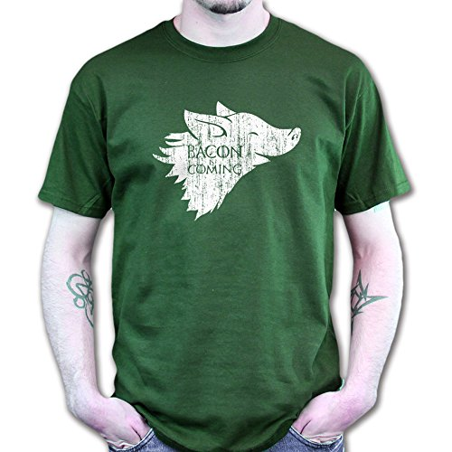Winter Bacon is Coming Game of Pig Thrones T-shirt Jungle Green