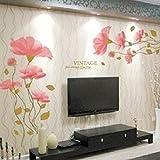 Bovake Art und Weise entfernbarer Lotus-Blumen-Haus-Raum-Dekor-entfernbarer Wand-Aufkleber / Abziehbild