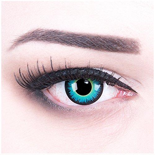 Kontaktlinsen Halloween Naruto (Meralens Seraphin Kontaktlinsen mit Pflegemittel ohne Stärke, 1er Pack (1 x 2 Stück))