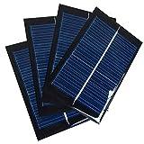 Juego de 4 Piezas NUZAMAS 6V 100mA 90X60mm Micro Mini Células de Panel Solar Para Energía de Energía Solar, Hogar DIY, Proyectos Científicos - Juguete