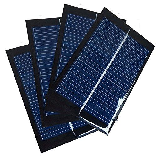 Características:  Juego de 4 paneles solares 90mm x 60mm 0.6W 6V  Grande para el proyecto de bricolaje, se puede utilizar para cargar las baterías de la CC con voltaje debajo de 6V  100% de energía silenciosa y verde, ideal para el medio ambiente  Se...