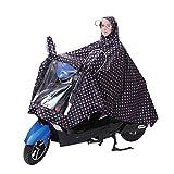 Poncho de lluvia hombres mujeres abrigo ropa impermeable protección lluvia con capucha impermeable portátil–Chaqueta de lluvia con visera Epais para moto bicicleta Camping Ciclismo Equitación Scooter, Negro , XXXXX-Large