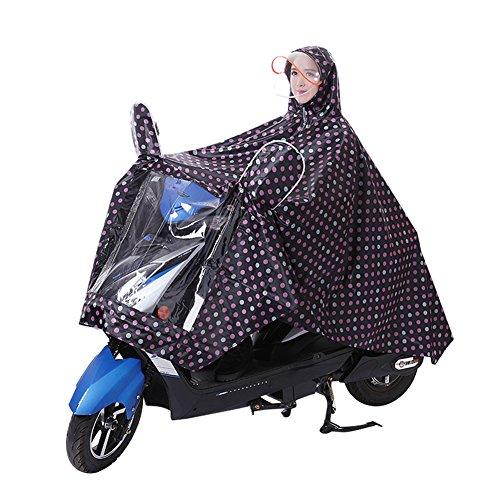 Poncho de lluvia impermeable unisex con capucha, portátil, para moto, bicicleta, ciclismo,...