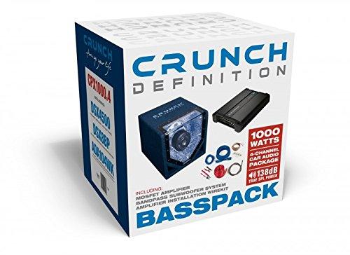 Crunch CPX1000.4 Basspack (Single-bandpass-system)