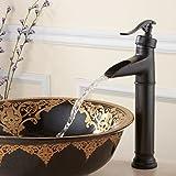 Qwer Continental a caldo e a freddo tocca Orb foro unico bagno specchi vanity Basin-Wide rame alta cascata tocca pozzi per acqua