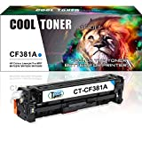 Cool Toner compatibile toner per CF381A 312A per HP Color LaserJet Pro MFPM476nw M476dn M476dw, 2700 pagine, Cyan