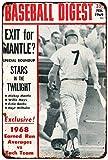 cwb2jcwb2jcwb2j Mickey Mantle Baseball Digest 1969 Vintage Reproduction Metal Sign 8 x 12