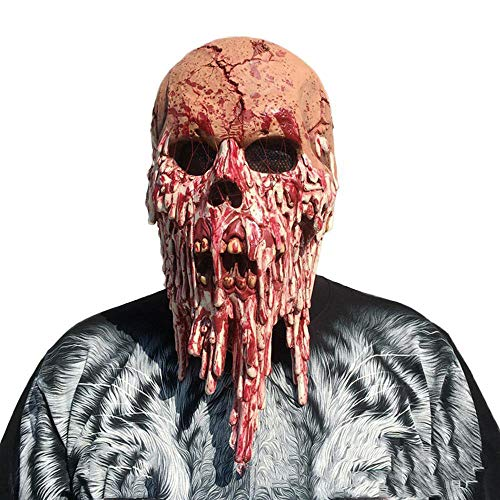 Schädel Maske Haunted House Kammer der Geheimnisse Blut Horror Haube Maske Erwachsene Thriller Horror Maske ()