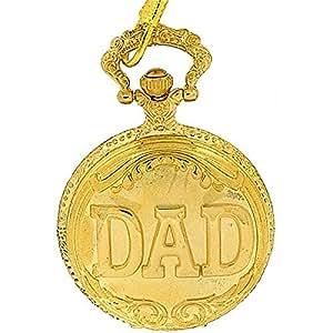 Montre de Poche Rojas Dad en Métal Doré sur Chaîne de 30 cm pour la Fête des Pères