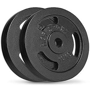 Hop-Sport Hantelscheiben 5kg 10kg 20kg 30kg 40kg Guss Gewichte Hantel Set Gewichtsscheiben 30mm