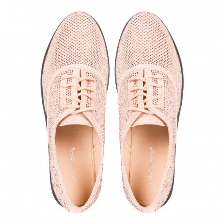 Ideal Shoes - Derbies effet daim recouvert de strass Acia Rose