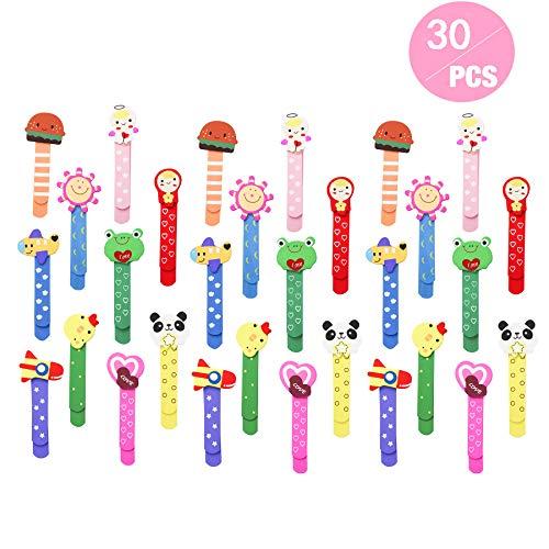 Animali Segnalibro Coloratissimi 30 pezzi, Annhao bambini in legno idea, Bambini Fumetto Colorati Carini Divertenti in Legno Regalino Gadget Festa Compleanno Bambini per Bomboniera Battesimo Nat
