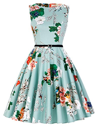 GRACE KARIN® 50s Retro Vintage Rockabilly Kleid Partykleider Cocktailkleider GD6086 (XX-Large, CL6086-33)