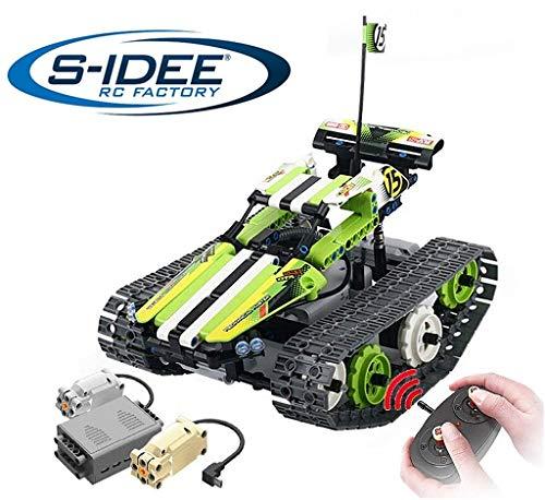 s-idee® 8015 RC Bausteinfahrzeug Stuntauto mit Fernsteuerung Technic Crawler RC Buggy Tracked Racer