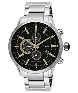 Timex E-Class Analog Black Dial Men's Watch-TW000Y402