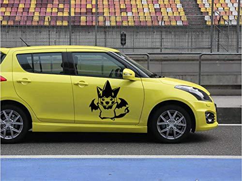 tonywu Car Sticker Dekal Kreative Persönlichkeit Funny Animierte Anime Wasserschutz Sonnenschutz Reflektierende Karosserie Fond Blumenschmuck Dekoration 58X58CM Eine 2PCS (Funny Karosserie Car)
