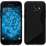 Coque en Silicone pour Samsung Galaxy A5 2017 - S-Style noir - Cover PhoneNatic Cubierta + films de protection