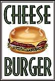 Cheese Burger schild aus blech, metal signs, tin