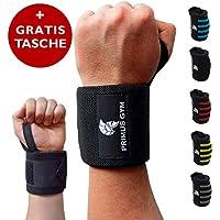 PRIMUS GYM Fitness Handgelenk Bandagen (60 cm) 2er Set, für Bodybuilding, Kraftsport, Crossfit - Wrist Wraps -... preisvergleich bei billige-tabletten.eu