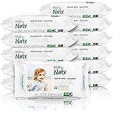 Naty by Nature Babycare Öko Feuchttücher Unparfümiert, 12er Pack (12 x 56 Stück)