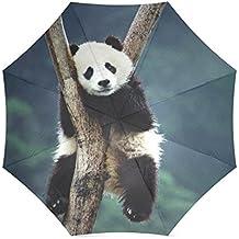 "umbrella-waterproof paraguas y plegable paraguas para al aire libre Totes Paraguas, 43,4cm (W) X 25.6""(H) (8costillas), sol paraguas y lluvia umbrella-panda (4)"