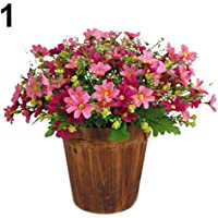 Amesii 1Bouquet 28Köpfe Künstliche Fake Cute Daisy Blume Home Hochzeit Garten Decor