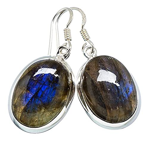 Ana Silver Co Labradorite 925 Sterling Silver Earrings 1 1/2