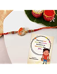 Tied Ribbons Premium Rakhi for Bhai with Rakshabandhan Special Card
