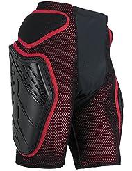 Alpinestars - short - BIONIC FREERIDE SHORT - Couleur : Noir/Rouge - Taille : L