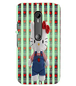 PrintDhaba Hello Kitty D-5780 Back Case Cover for MOTOROLA MOTO G3 (Multi-Coloured)