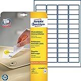 Avery Zweckform L4736REV-25 Universal-Etiketten (A4, 1,200 Etiketten ablösbar, 45,7 x 21,2 mm) 25 Blatt weiß