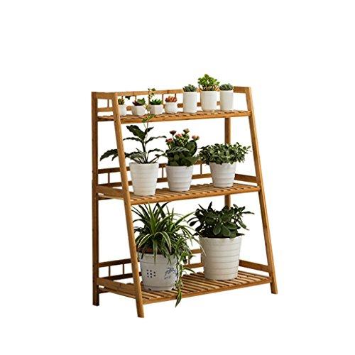 Étagère À Pot En Bois Étagère À Fleur Pot À Fleurs Présentoir À Plantes Étagère Plantes Escaliers En Bambou À 3 Niveaux ( taille : Length: 60CM )