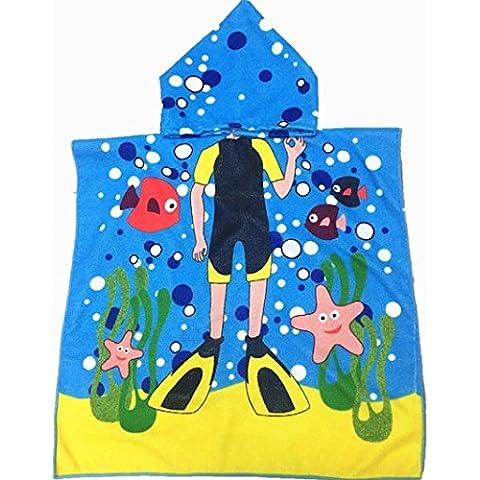 Los niños toallas de baño, Amlaiworld toalla con capucha (Azul)