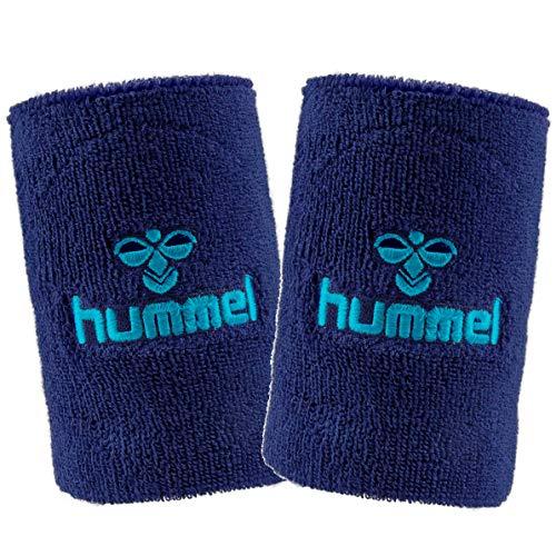 hummel Old School Small/Big Wristband 2er Set in vielen Farben für Handball und weitere Sportarten - Top Schweißband (saragossa sea (8744), Big)