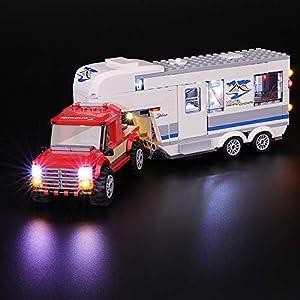 BRIKSMAX Kit di Illuminazione a LED per Lego City Pickup e Caravan, Compatibile con Il Modello Lego 60182 Mattoncini da…  LEGO