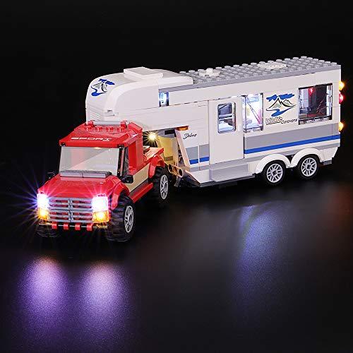 BRIKSMAX Kit de LED pour Lego City Le Pick-up et sa Caravane, Compatible avec la Maquette Lego 60182, La Maquette de Construction n'est Pas Incluse
