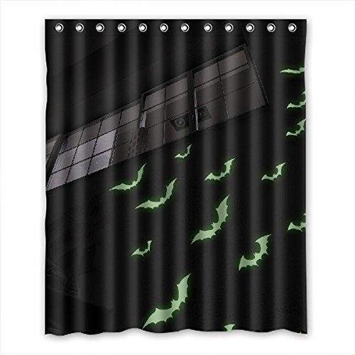 Doubee Halloween tenda doccia impermeabile bagno tessuto a righe 152,4x 182,9cm, Poliestere, C, 60