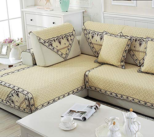 Zzy 100{3b1de3f8747a64896582cde814aa3432b256aefd0353c6127d194e7bb31664e5} Baumwolle ganzjahres sofabezug,Sofa Kissen möbel Sofa beschützer Couch Sofa Handtuch abdecken-C 110x240cm(43x94inch)