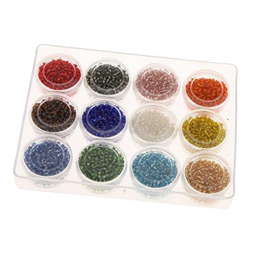 Magideal 3600pcs Multicolor 2mm Perlas Sueltas Cuentas